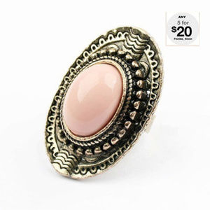Jewelry - Victorian Peach Knuckle Ring ~ Antique Gold